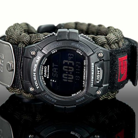 Green Berets Tactical Paracord Solar Watch